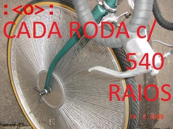 RODA DE BICICLETA COM 540 RAIOS .