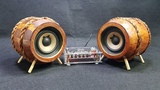 DIY 2.0 Bluetooth Speaker with Wooden Coffee Box and Scrap Cassette Player
