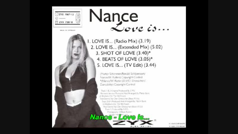 Nance Coolen - Love Is... (12Inch. Extended Mix Version And Edit.) By SPG Music Productions Inc. Ltd. Radio Edit. Video Edit.