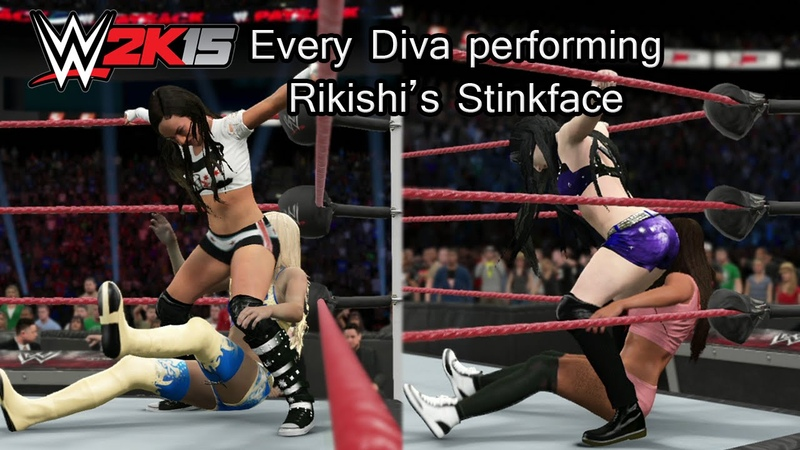 WWE 2K15 (PS4) Every Diva Performing Rikishis Stinkface