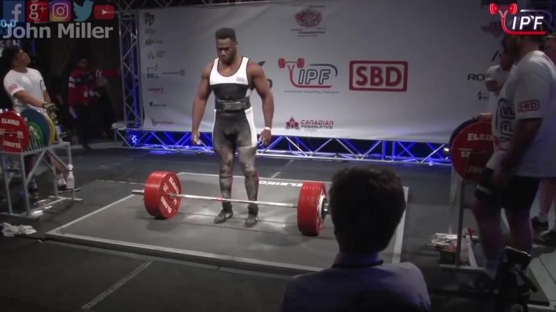 Рондель Хант до 105 кг приседает 307.5 кг, 320 кг, 330 кг. жмет лежа 195 кг, 205 кг, 213.5 кг. тянет 320 кг, 340 кг.