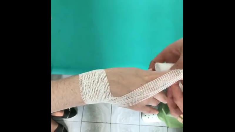 Бинтуем палец