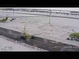 S7 Airlines Airbus Drift on ice december 2016
