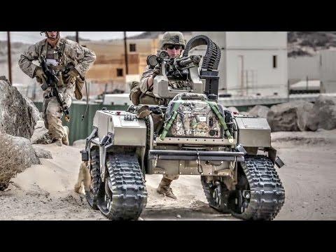 US Marines Futuristic Combat Robots In Action