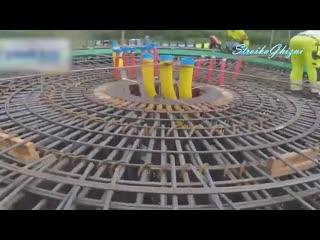 Фундамент под гигантский ветряк [TimeLapse]