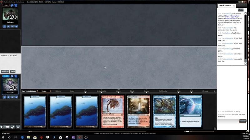 Modern Challenge 152019 RD 8 UR Breach vs Amulet Titan