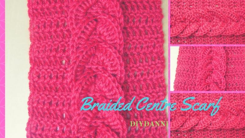 Easy Crochet Braided Scarf