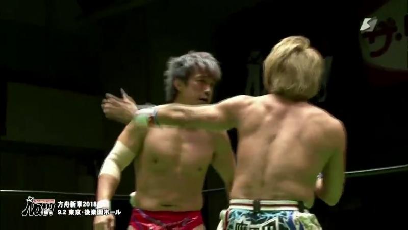 Hi69, Minoru Tanaka (c) vs. Ikuto Hidaka, Takuya Sugawara (NOAH - Ark New Chapter 2018)