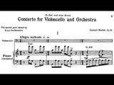 Samuel Barber - Cello Concerto (1945) score+audio