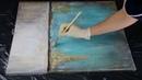 Abstract painting Demo / Gold Leaf / Acrylics / Acrylbild abstrakt mit Blattgold by Victoria