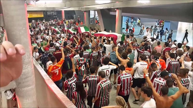 Desde Pequeno Te Sigo - Saída de Fluminense 2x0 Coritiba (04/06/15)