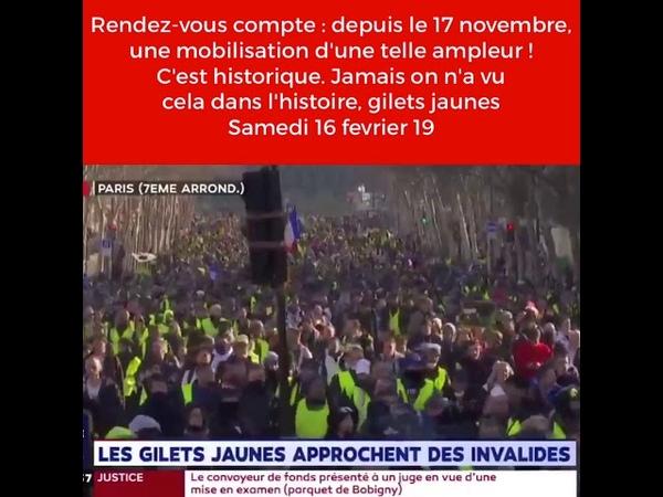 Rendez-vous compte : depuis le 17 novembre, une mobilisation d'une telle ampleur ! C'est historique