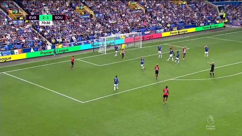 Чемпионат Англии 2018-19 2 тур Эвертон - Саутгемптон 2 тайм