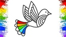Dove Drawing for Kids Coloring Pages for Childrens