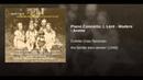 Piano Concerto: I. Lent - Modere - Anime
