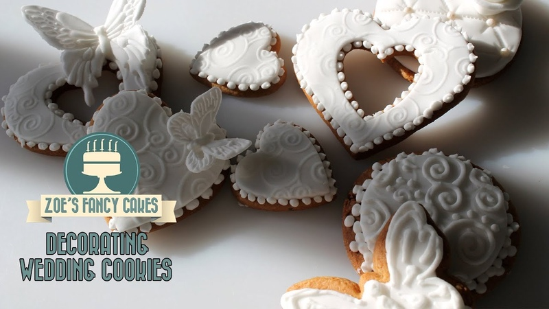 Fancy wedding cookies, baking and cake decorating How To Tutorial Zoes Fancy Cakes