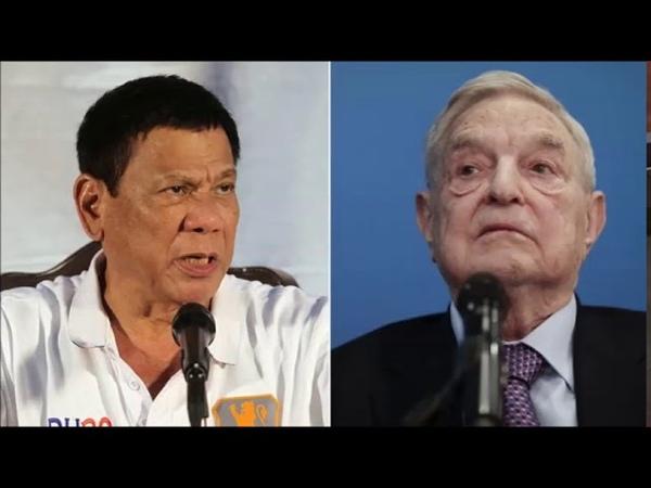 """07.05.2017 Prezident Duterte varuje Georga Soroša - """"Na tvoju hlavu je vypísaná odmena, v pekle pre"""