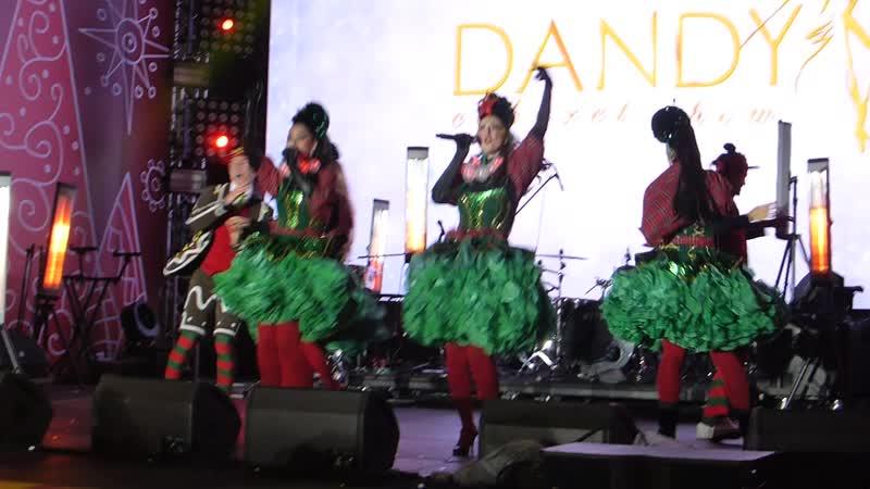 Bukreev Звездочёты волшебники Белый медведь в ушанке Зажигают певицы Песня Танцы Cabaret Show DANDY Артисты мюзи