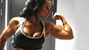 SWEDISH MUSCLE QUEEN ADRIANA KUHL Strong Chest and Biceps