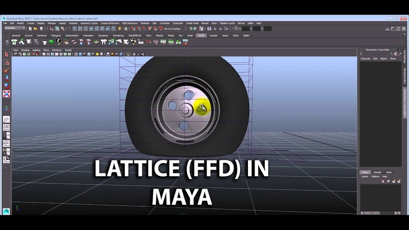 Lattice Deformers in maya hindi