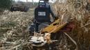 Самодельный комбайн для уборки кукурузы для минитрактора из мотоблока / Конец сезона 2018