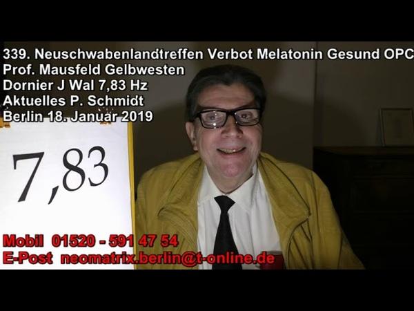 339 Neuschwabenlandtreffen Verbot Melatonin Gesund OPC 7 83 Dornier Wal Gelbwesten