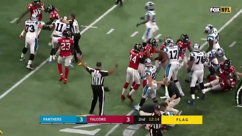Damontae Kazee BIG Late HIT on Cam Newton l Falcons vs. Panthers l NFL