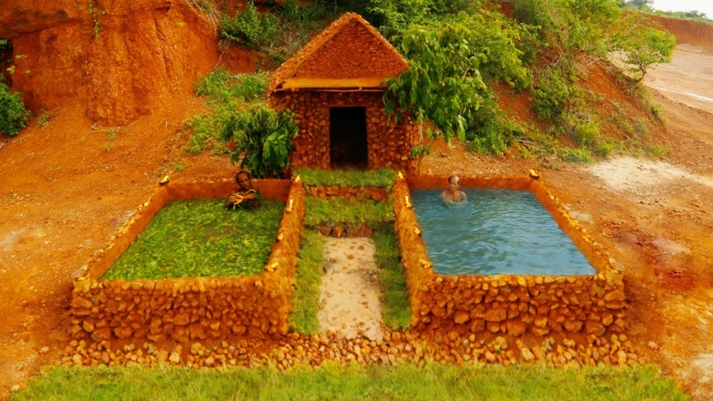Build the greatest villa house by stone mountains and twin pools? to treat disease