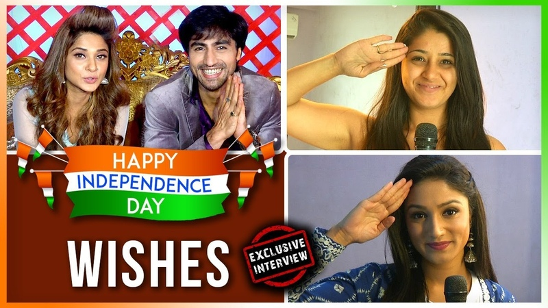 TV Celebs Wish Their Fans A HAPPY INDEPENDENCE DAY Jennifer WInget Harshad Chopda Donal Bisht