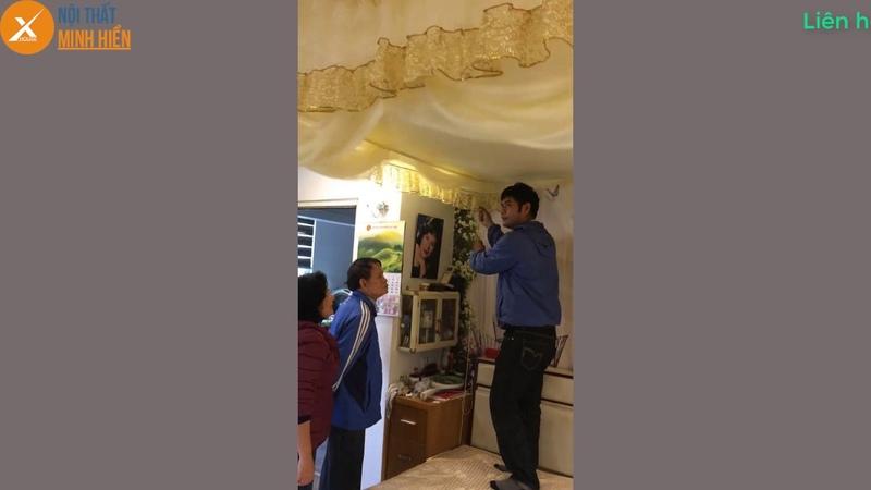 Nội Thất Minh Hiền hướng dẫn khách hàng sử dụng màn khung, mùng ngủ cao cấp