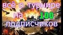 ВсЁ о ТуРнИрЕ ПоСвЯщёНнОмУ 100 ПоДпИсЧиКаМ на МоёМ ЮтуБ КаНАлЕ
