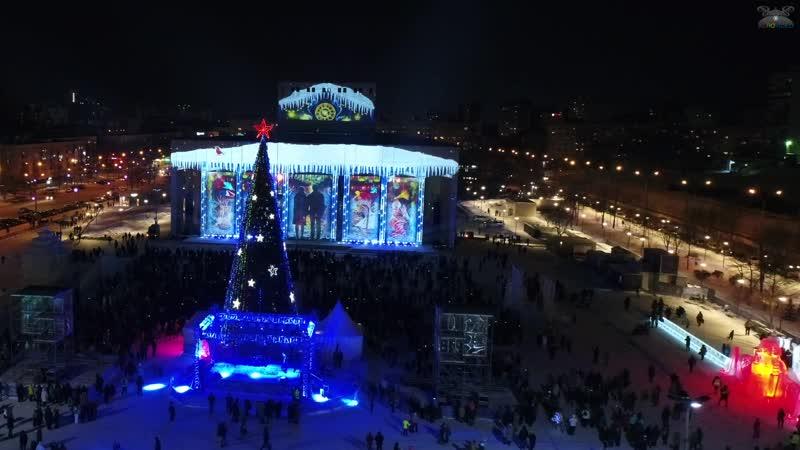 Свето проекционного шоу Рождественское чудо в Перми 07 01 2018
