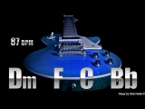 Clean Guitar Soft Rock Backing Track D minor Full HD,1920x1080