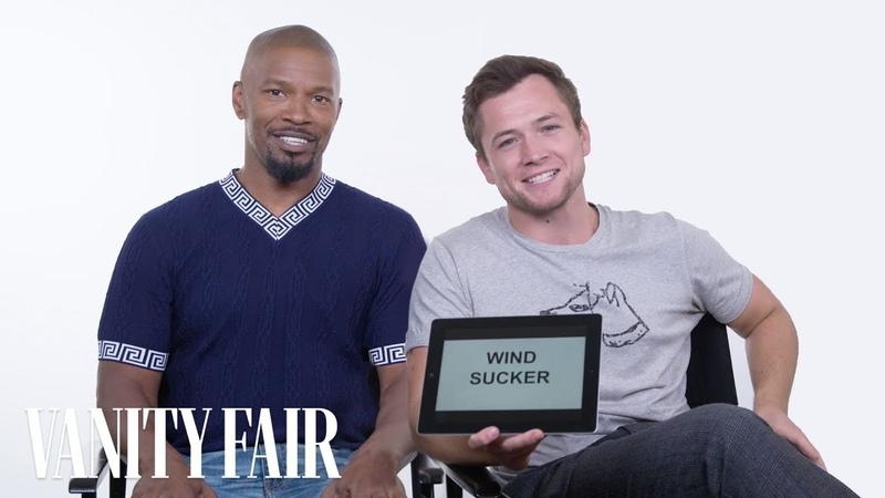 Jamie Foxx and Taron Egerton Teach You Medieval Slang   Vanity Fair