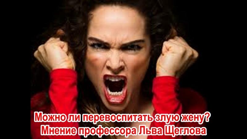 Лев Щеглов: Можно ли перевоспитать злую жену? 23 10 18