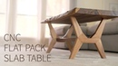 CNC Flat Pack, Live Edge, Mid Century Modern Coffee Table Woodworking how to