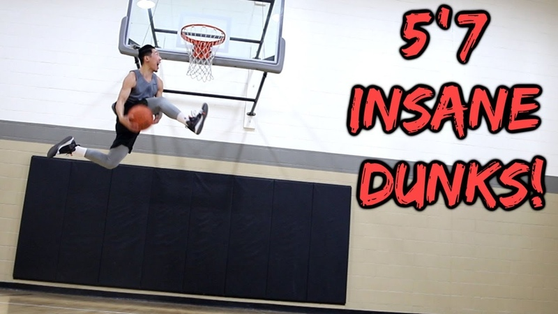 BETWEEN THE LEGS DUNK ON MY FIRST EVER DUNK SESSION?!