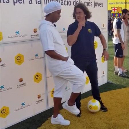 Ronaldinho e puyol