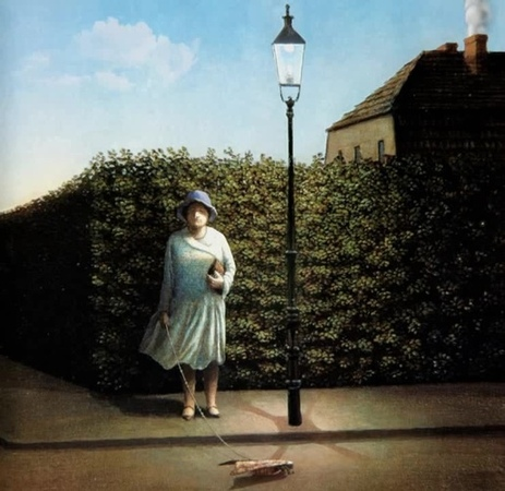 Woman with Moth (Painting to 3d)