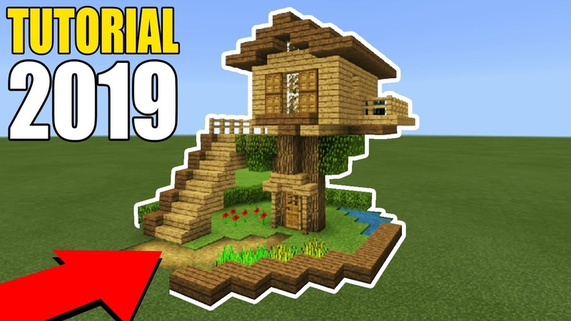 Minecraft Tutorial: How To Make A Easy Starter Wooden Treehouse 2019