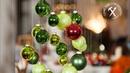 Albero di Natale fai da te sospeso con palline 🎄