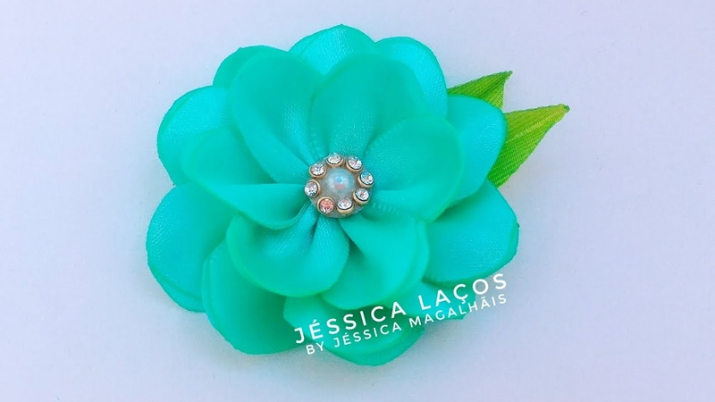 DIY - PAP Flor de cetim facil - satin flower Easy - satin flower