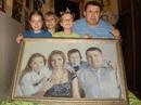 Полтора года вышивала крестиком свою семью.