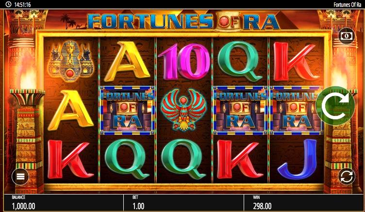 Обзор игрового автомата Fortunes Of Ra