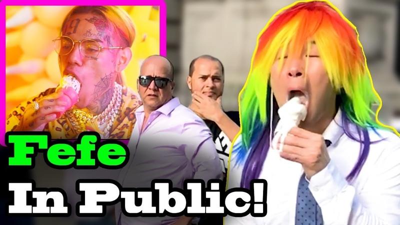 6IX9INE (Tekashi69), Nicki Minaj - FEFE - SINGING IN PUBLIC!!