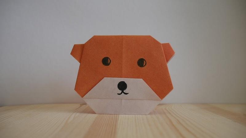 Оригами Как сделать медведя из бумаги видео урок