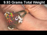 Certified Welo Mined Top Gem Black Ethiopian Opal &amp Diamond Ring Set In Solid 18K Gold Must Be Sold