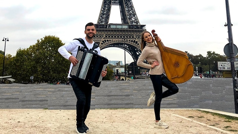 Indila - Derniere Danse (Ukrainian Cover by BB project) Eiffel Tower, Paris (LIVE VIDEO)