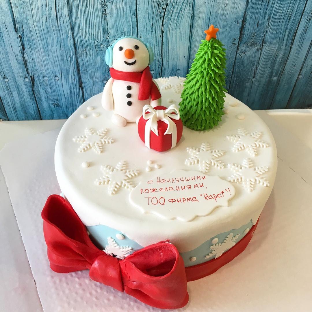 новогодний корпоративный торт (Арт. 331)