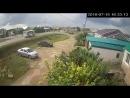 Момент аварии с автобусом в Туймазах